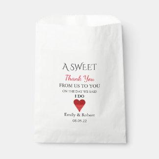 Bonbon danken Ihnen Gastgeschenk Hochzeits-Buffet Geschenktütchen