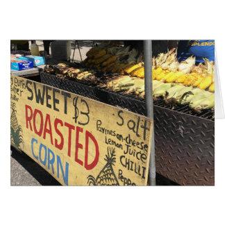 Bonbon gebratener Mais, Straßen-Messe, New York Karte