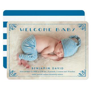 Bonbon punktierte Rahmen-Geburts-Mitteilung 12,7 X 17,8 Cm Einladungskarte