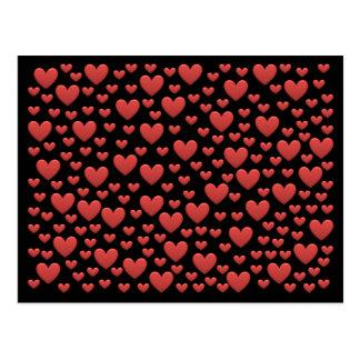 Bonbon-Regenbogen-Liebe-Herzen Postkarten
