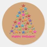 Bonbon-Regenbogen-Weihnachtsbaum-bunte Aufkleber