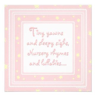 Bonbon spielt rosa Babyparty-Einladung die