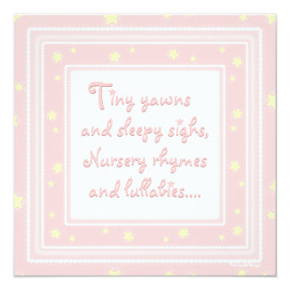 Bonbon spielt rosa Babyparty-Einladung die Quadratische 13,3 Cm Einladungskarte