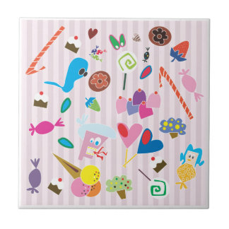 Bonbon-u. Süßigkeits-Fliese Kleine Quadratische Fliese