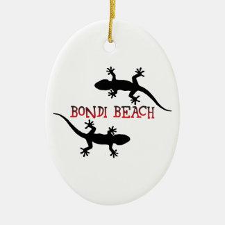 Bondi Strand Australien Ovales Keramik Ornament