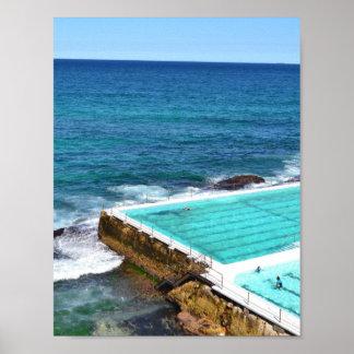Bondi Strand-Australien-Ozean-Pool Poster