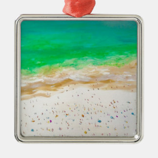 Bondi Strand-Luftaufnahme Silbernes Ornament