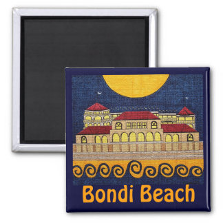 Bondi Strand Quadratischer Magnet