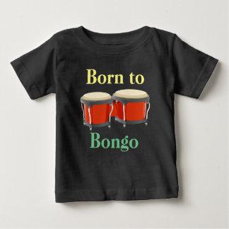 Bongo-Trommeln auf Baby-Geldstrafe-Jersey-T - Baby T-shirt