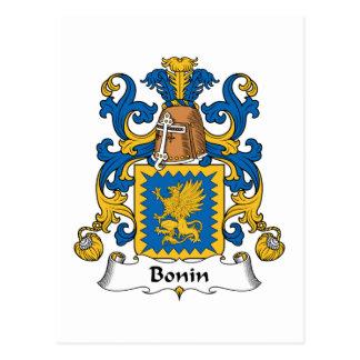 Bonin Familienwappen Postkarte
