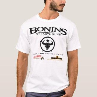 Bonins Steakhouse-Lichtspoof-Anzeigen-Shirt T-Shirt