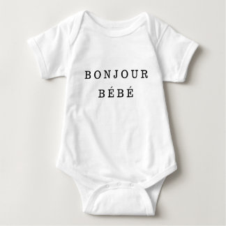 """Bonjour Bébé"" Jersey Baby-Bodysuit Baby Strampler"
