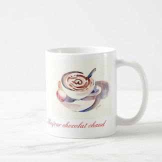 Bonjour chocolat chaud kaffeetasse