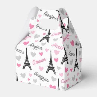 Bonjour Paris Muster-Gastgeschenkkasten Geschenkschachtel