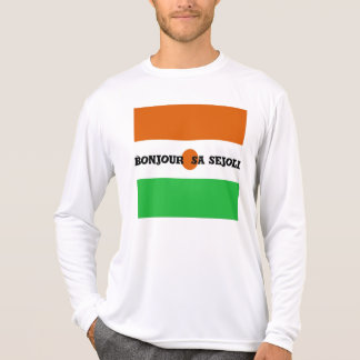 Bonjour sa sejoli schönes Neger T-Shirt