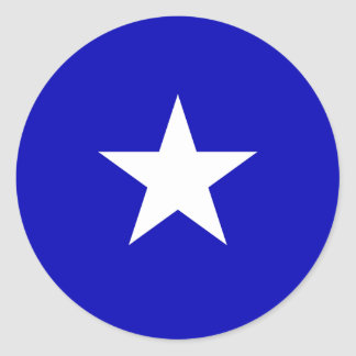 Bonnie-blauer Sumpf-Schwertlilie Runder Aufkleber