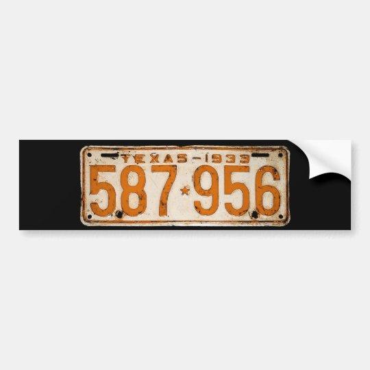 Bonnie & Clyde License Plate Autoaufkleber