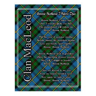 Bonnie Schottland verehre ich Thee Clan MacLeod Postkarte