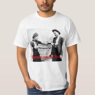 Bonnie und gekreuzte Liebhaber Clydes Stern oder T-Shirt