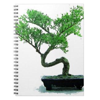 Bonsaibaum Malerei Notizblock