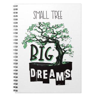Bonsais - kleiner Baum-große Träume Spiral Notizblock