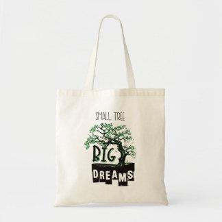 Bonsais - kleiner Baum-große Träume Tragetasche