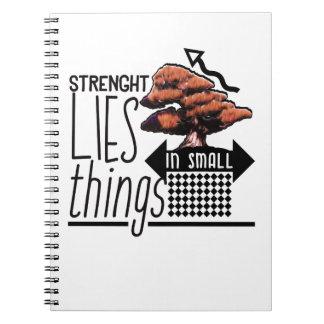 Bonsais - Stärke liegt in den kleinen Sachen Notizblock