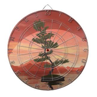 Bonsaisbaum der schottischen Kiefer - 3D Dartscheibe