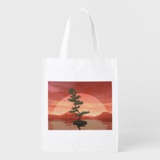 Bonsaisbaum der schottischen Kiefer - 3D Wiederverwendbare Einkaufstasche