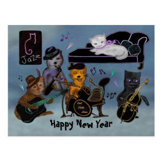 Bonze-neues Jahr-Stau Postkarte