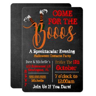 Boo auf Schnaps-und Boo-Halloween-Party-Einladung Karte