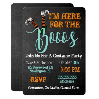 Boo auf Schnaps-und Boos-Halloween-Party-Einladung Karte