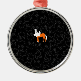 Boo-Einhorn Silbernes Ornament