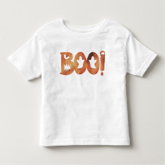 BOO! Geist-Kleinkind-T-Shirt Halloweens orange Kleinkind T-shirt
