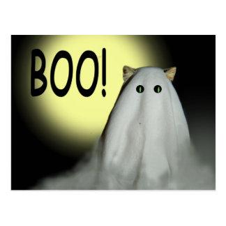 Boo! Halloween-Karte Postkarte