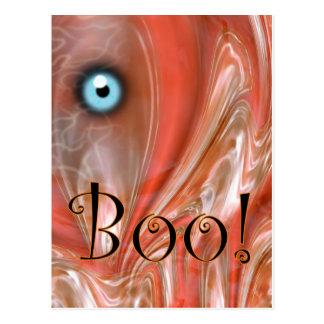 Boo! Halloween Postkarte