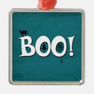 Boo! Silbernes Ornament
