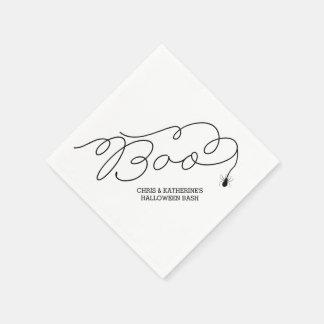 Boo-Spinnen-personalisierte Serviette