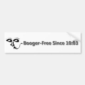 Booger frei seit 10:03 Nasen-Autoaufkleber! Autoaufkleber