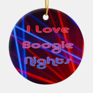 Boogie-Nächte und Disco-Lichter 1 Keramik Ornament