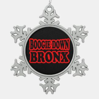 Boogie unten Bronx, NYC Schneeflocken Zinn-Ornament