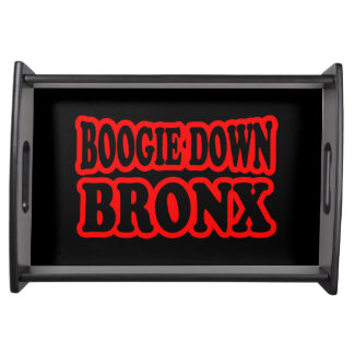 Boogie unten Bronx, NYC Serviertablett