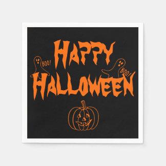 Booing glückliches Halloween Serviette