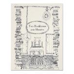 Booklovers-Einladungs-Hochzeits-Karte 10,8 X 14 Cm Einladungskarte