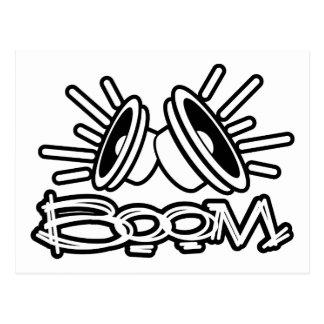 BOOM - Musik Boombox Pop-Mode Postkarte