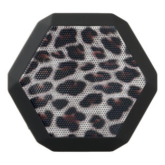 Boombot REX/Leopard Druck Schwarze Bluetooth Lautsprecher