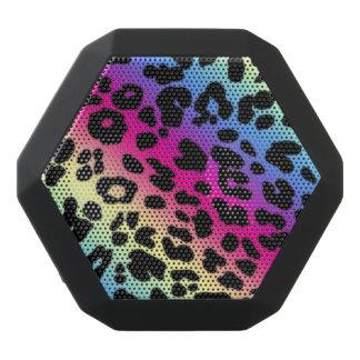 Boombot REX/Rainbow Leopard-Druck Schwarze Bluetooth Lautsprecher