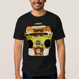 Boombox Farbe verblassen (Gelb) Hemden