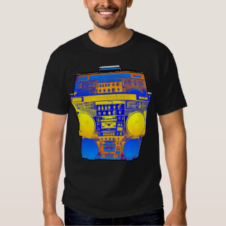 Boombox Farbe verblassen (mildern Sie) Tshirts