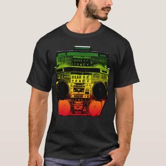 Boombox Farbe verblassen (Rasta) T-Shirt